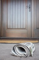 Newspaper near front door