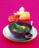Oriental watercress soup with few calories