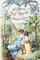 C 1855 Hawaiian children in natural setting, rovings in the South Seas
