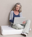 Senior Adult with a laptop