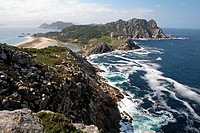 Cies Islands Natural Park, Pontevedra province. Spain