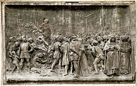 Giordano Bruno´s execution  3 of 3  Giordano Bruno 1548-1600 was an Italian philosopher who supported the Copernican view that the Earth revolved arou...