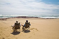 Some relax time at the Atlantic ocean in Namibia, Africa