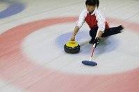 Young Girl Curling