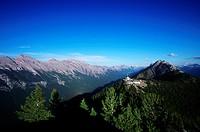 Sulphur Mountain, above Banff townsite, Alberta, Canada