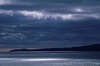 Storm light on Lake superior near Rossport, Ontario, Canada