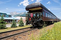 Historic passenger train makes stop in Fernie, British Columbia, Canada