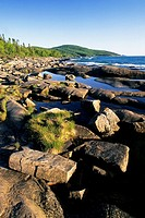 The shoreline at Neys Provincial Park, Lake Superior, Ontario, Canada