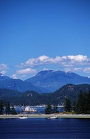 Quadra Island, Rebecca Spit, ferry to Cortes island in opening, British Columbia, Canada