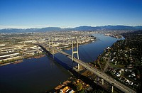 The Alex Fraser Bridge conecting Richmond and New Westminister, British Columbia, Canada