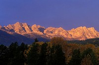 Lizard Range at sunrise, Fernie, British Columbia, Canada
