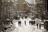 Whistler Village in winter, British Columbia, Canada