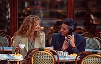 Man and Woman at Outdoor Cafe