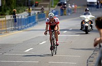 Cyclist in Time Trials for National Championship, Hamilton, Ontario