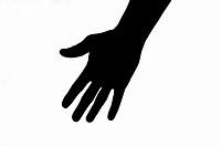 Human hand, silhouette