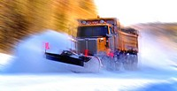 Snow Plow Truck, Hwy 5A, Kamloops, British Columbia