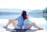 Sisters Sunbathing