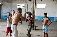Young Boys learning to Box, Regla, Cuba