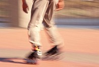 Person Rollerblading