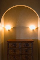 Wood Dresser and Lights