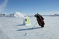 Golf Course on the Sea Ice, Cambridge Bay, Nunavut