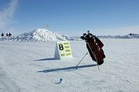 Golf Course on the Sea Ice, Cambridge Bay, Nunavut