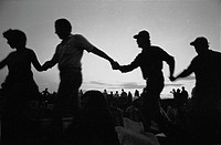 Dancers at the1982 Winnipeg Folk Festival, Bird´s Hill Provincial Park, Manitoba