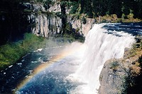 Rainbow over Upper Mesa Falls, Idaho
