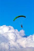 Risk sport, Maspalomas, Grancanaria, Grancanarias, Canary Islands, Paragliding, jump plane, Playa del English, life