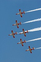 Patrulla Águila, Spanish Air Force aerobatic demonstration team. Granada, Andalucia, Spain