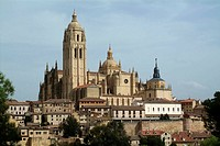 Segovia. Castilla-Leon. Spain. Cathedral (16th century), overview on Segovia