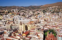 View of the City of Guanajuato Mexico