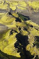Iceland. Volcanic area of Lakagigar. Laki volcano.