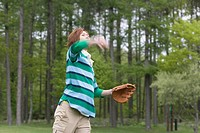 Young Man Playing Catch