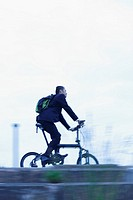 Businessman Bicycling