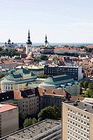 View over the old town of Tallinn