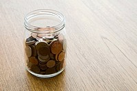 A jar of coins