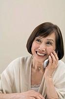 Senior woman using mobile phone