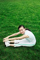 Woman exercising in the park