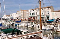 The port. La Flotte village. Island of Ré. Atlantic coast. Charente-Maritime. France.