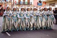 ´Moros y cristianos´ festival. Fuente de la Higuera. Valencia. Spain.