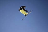 Skier Flying Through the Air