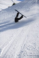 Snowboarder Wiping Out