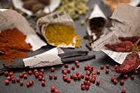 group of spices, close_up
