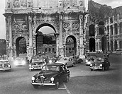 Cars and ancient monuments Rome Italy All persons depicted are not longer living and no estate exists Supplier warranties that there will be no model ...
