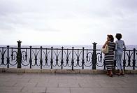 Viewpoint to Mediterranean sea in Rambla Nueva. Tarragona, Catalonia. Spain