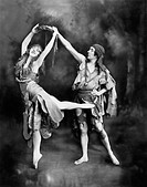 Male and female ballet dancers performing in costume All persons depicted are not longer living and no estate exists Supplier warranties that there wi...
