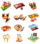 Different types of foods