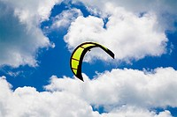 Low angle view of a kite in the sky, Smathers Beach, Key West, Florida, USA
