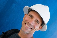 Portrait of a male construction worker smiling
